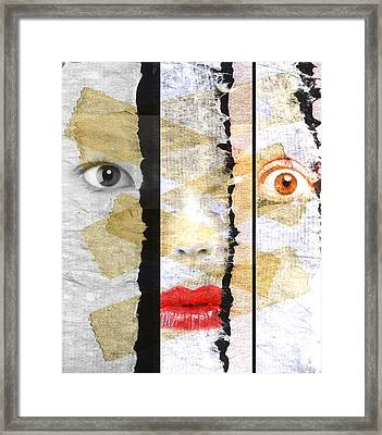 Strange Faces Framed Print by David Ridley