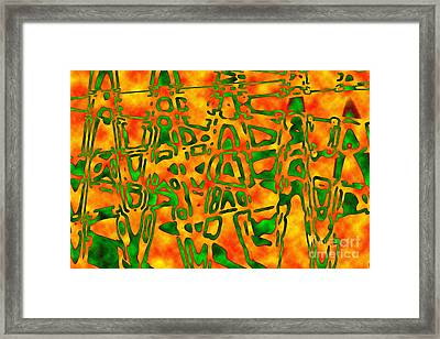 Framed Print featuring the photograph Strange Hieroglyphs by Mark Blauhoefer