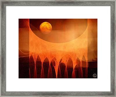 Strange Moon Framed Print by Gun Legler