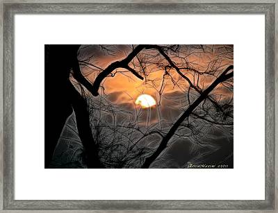 Framed Print featuring the photograph Strange Morning by EricaMaxine  Price
