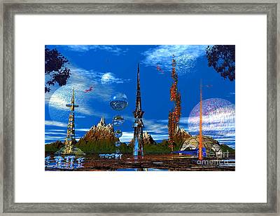Framed Print featuring the photograph Strange Planet by Mark Blauhoefer