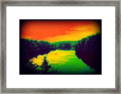 Strange River Scene Framed Print by Jason Lees