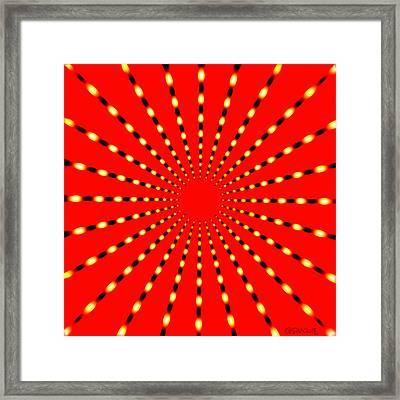 Strange Sun Rays Framed Print