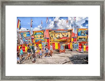 Strangest Show On Earth 2013 Framed Print by Joseph Duba