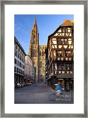 Strasbourg Cathedral Framed Print by Brian Jannsen