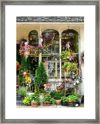 Strasburg Flower Shop Framed Print by Susan Savad