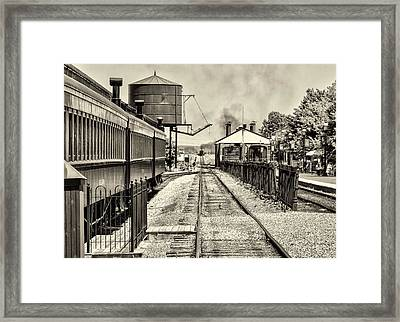 Strasburg Railroad In Sepia - Lancaster County Framed Print by Bill Cannon