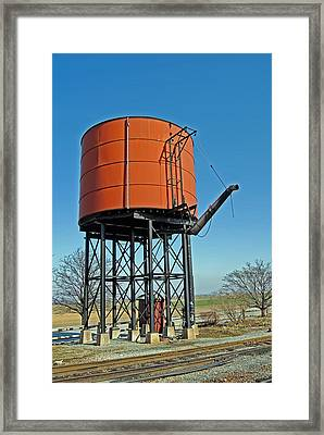 Strasburg Water Tower Framed Print by Skip Willits