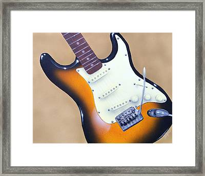 Framed Print featuring the painting Strat O. Caster by Chris Fraser