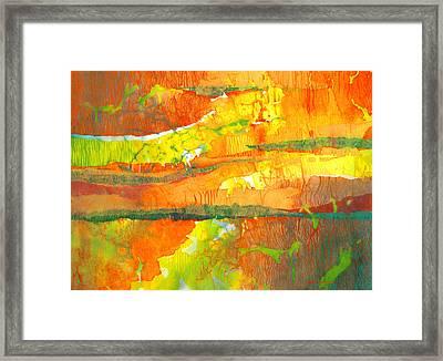 Strata Framed Print