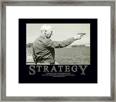 Strategy General George S. Patton Framed Print