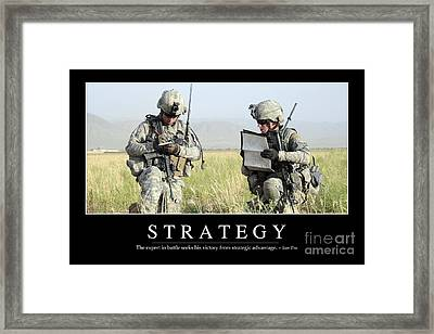 Strategy Inspirational Quote Framed Print
