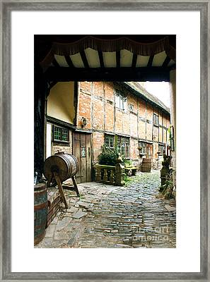 Stratford Back Alley Framed Print by Terri Waters