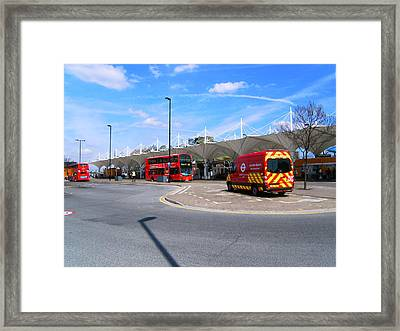 Framed Print featuring the photograph Stratford Bus Station Study 01 by Mudiama Kammoh