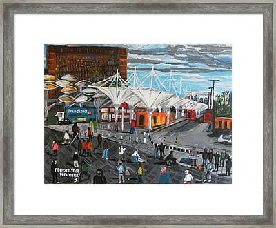 Framed Print featuring the painting Stratford Bus Station Study 02 by Mudiama Kammoh