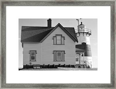 Stratford Point Light 4 Framed Print by Catherine Reusch Daley