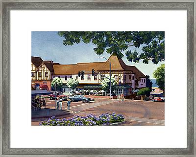 Stratford Square Del Mar Framed Print by Mary Helmreich