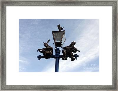 Stratford's Jewish Lamp Post Framed Print by Terri Waters