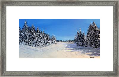 Stratton Intersection Framed Print by Ken Ahlering