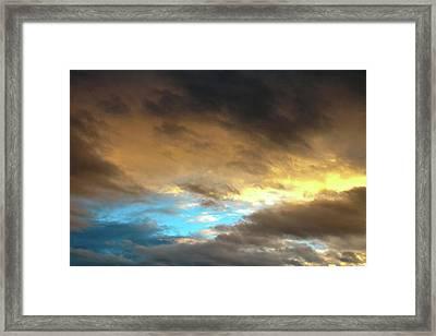 Stratus Clouds At Sunset Bring Serenity Framed Print