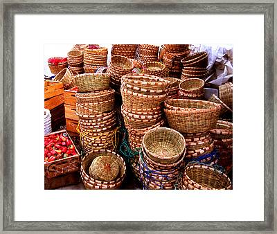Straw Baskets Framed Print