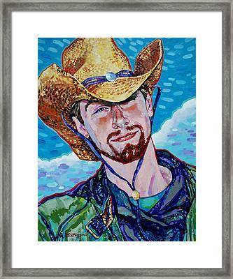 Straw Hat Framed Print by Derrick Higgins