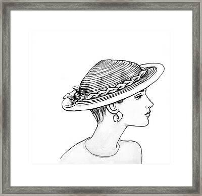 Straw Hat Framed Print by Sarah Parks