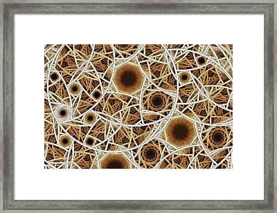 Straw Mosaic Framed Print by Anastasiya Malakhova