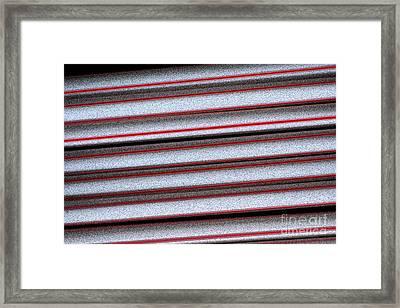 Straw Red Framed Print by Carol Lynch
