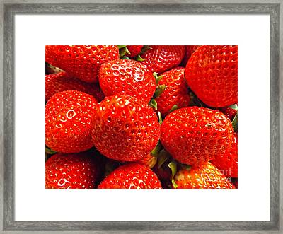 Strawberries Framed Print by Clare Bevan