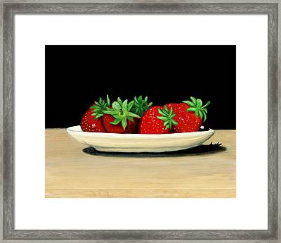 Strawberries Framed Print by Karyn Robinson