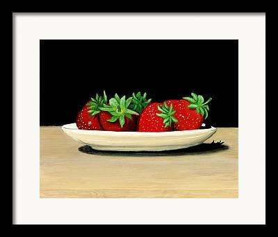 Berries On Plate Framed Prints