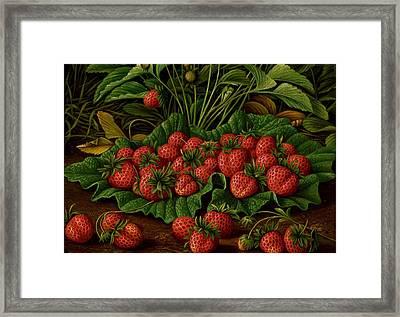Strawberries Framed Print by Levi Wells Prentice