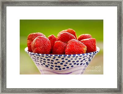 Strawberries Framed Print by Lutz Baar