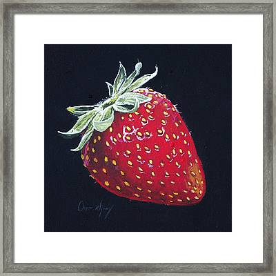Strawberry Framed Print by Aaron Spong