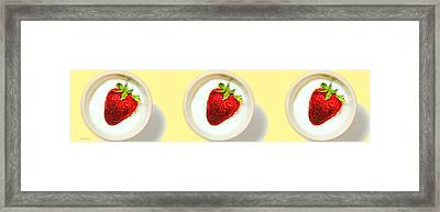 Strawberry And Cream Framed Print by Bob Orsillo