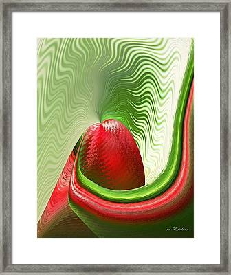 Strawberry And Fan Framed Print by rd Erickson