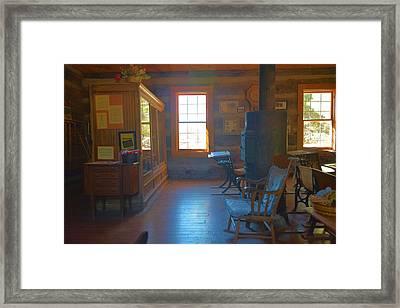 Strawberry Arizona School House Framed Print by Richard Jenkins