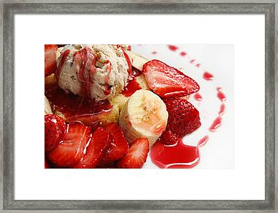 Strawberry Banana Shortcake Framed Print by Andee Design