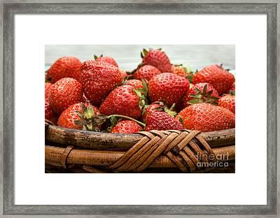 Strawberry Basket Framed Print