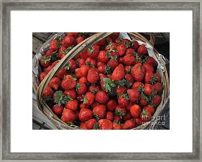 Strawberry Basket Framed Print