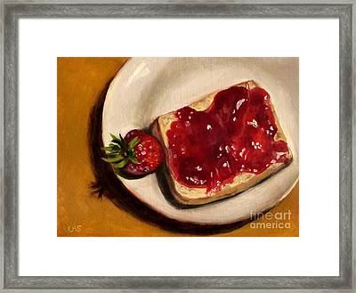 Strawberry - Before And After Framed Print