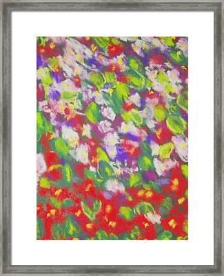 Strawberry Begonias II Framed Print