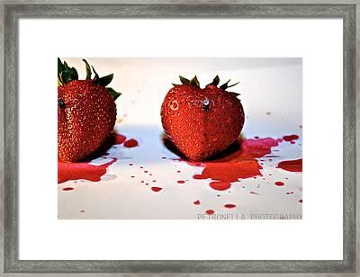 Strawberry Blood Framed Print