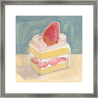 Strawberry Cake Framed Print by Kazumi Whitemoon