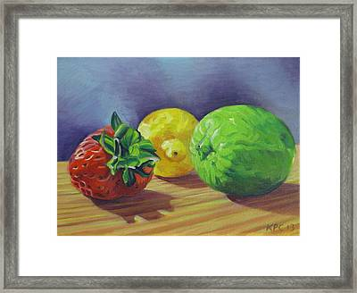 Strawberry Citrus Framed Print by Kenneth Cobb