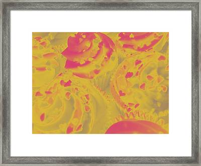 Strawberry Cream Framed Print by Erica  Darknell