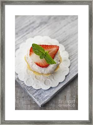 Strawberry Cupcake Framed Print