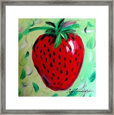 Strawberry Framed Print by Cynthia Hudson