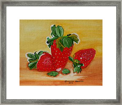 Strawberry Delight Framed Print